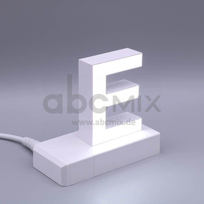 LED Buchstabe Klick E 75mm Arial 6500K weiß