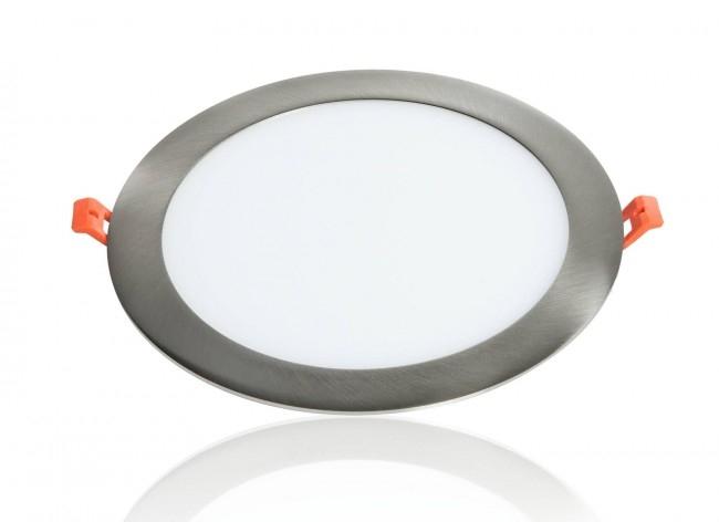 LED Panel Einbaustrahler silber 18W Ø225mm 5500K dimmbar