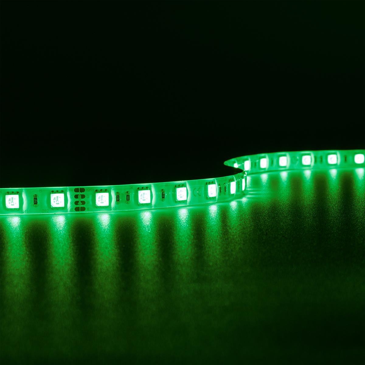 Strip RGB 24V LED Streifen 5M 14,4W/m 60LED/m 10mm IP65 Farbwechsel