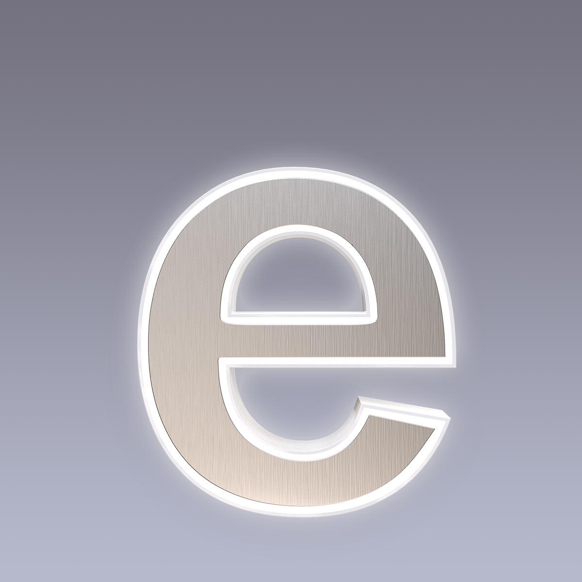 Cover für 15cm Hausnummer e Edelstahl Arial selbstklebend