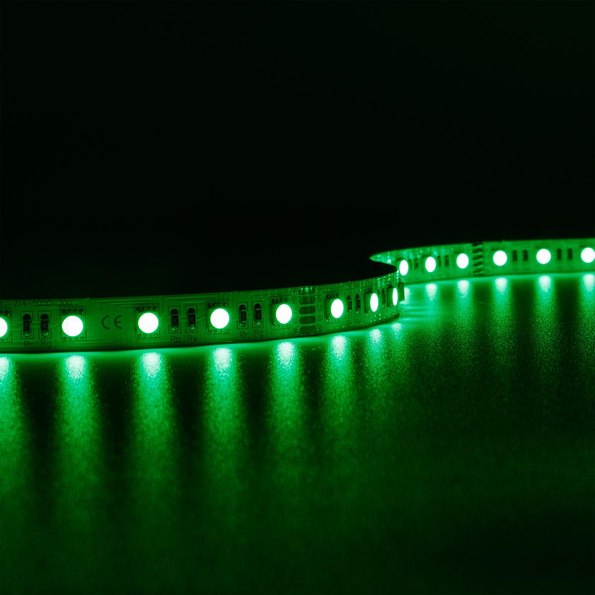 Strip RGBW 24V LED Streifen 5M 15W/m 60LED/m 12mm IP20 Farbwechsel RGB+4000K