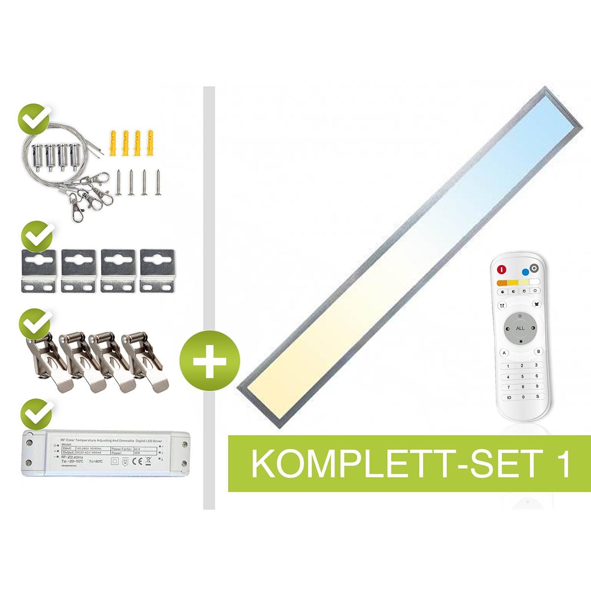 CCT LED Panel Set 1 120x15cm 36W 3000K-6000K