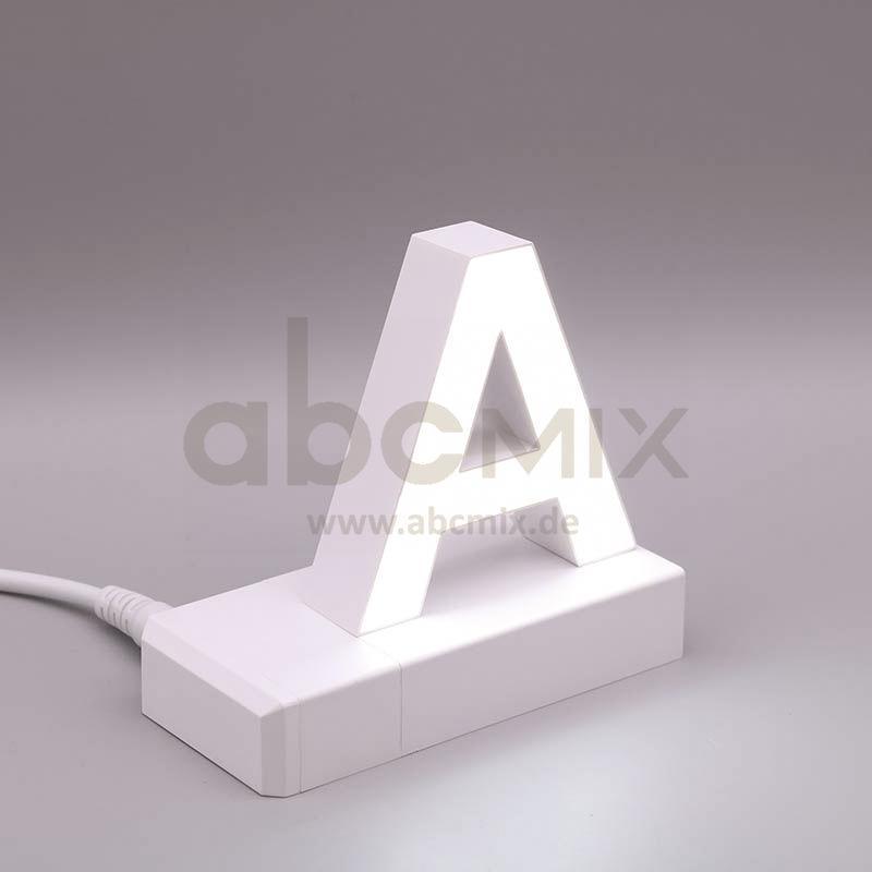 Leuchtbuchstabe EasyClick A 75mm Arial 4000K weiß