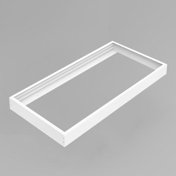 LED Panel Aufbaurahmen Classic 30x60cm weiß Aufputz Montagerahmen