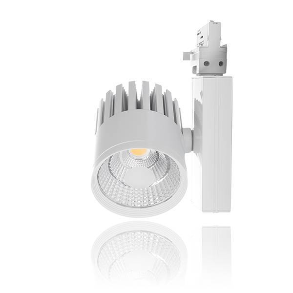 LED Spot/ Tracklight f. 3 Phasenschiene 30W 4000K A 24°