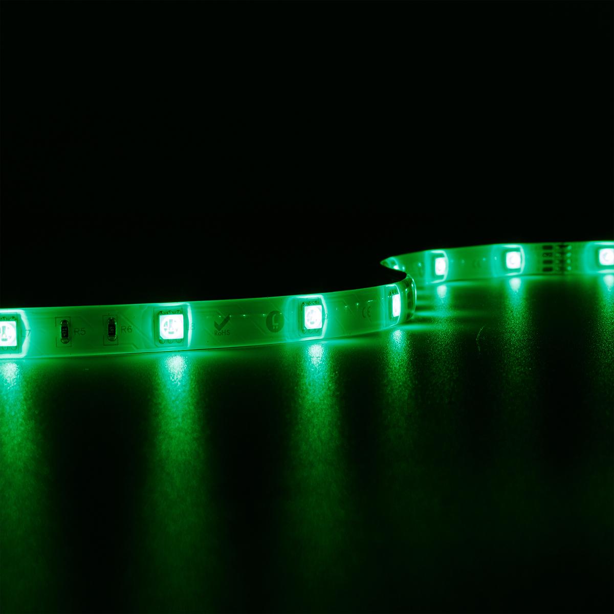 Strip RGB 24V LED Streifen 5M 7,2W/m 30LED/m 10mm IP65 Farbwechsel