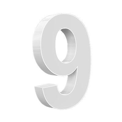 Hausnummern beleuchtet
